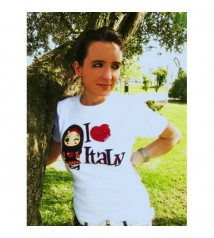 T-shirt - I love Italy (white)