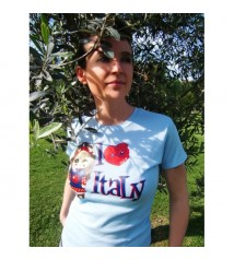 T-shirt - I love Italy (blue)
