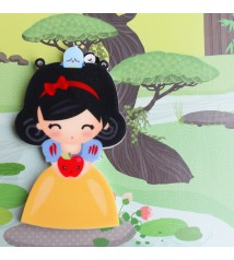 Snow White- acrylic charm and pin/magnet