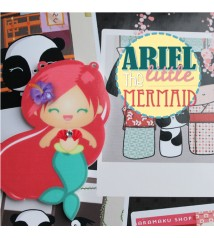 Ariel the little mermaid - acrylic charm and pin/magnet